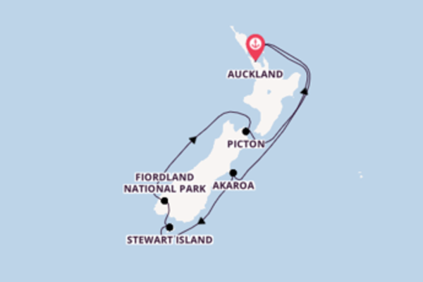 Trip with P&O Australia from Auckland