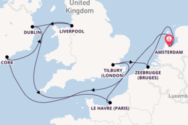 10 day cruise from Amsterdam