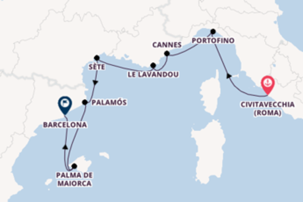 A bordo do Seabourn Encore em uma viagem de 8 dias