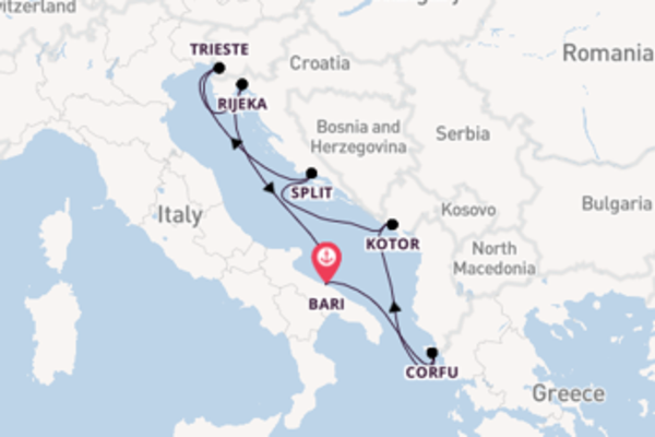 Cruise with MSC Cruises from Bari
