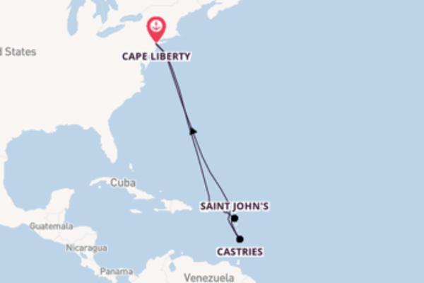 Non perdere Philipsburg arrivando a Cape Liberty
