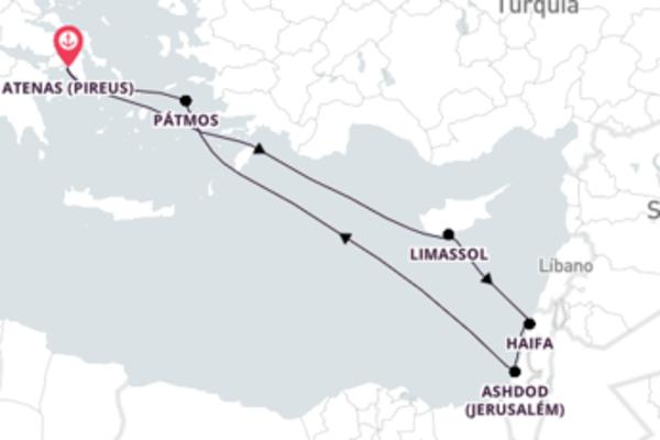 Navegando por Chipre, Israel e Grécia