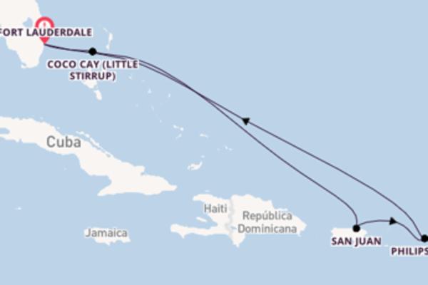 Maravilhoso cruzeiro de 8 dias até Fort Lauderdale