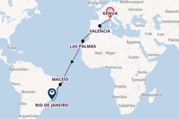 Eindrucksvolle Reise mit der Costa Pacifica