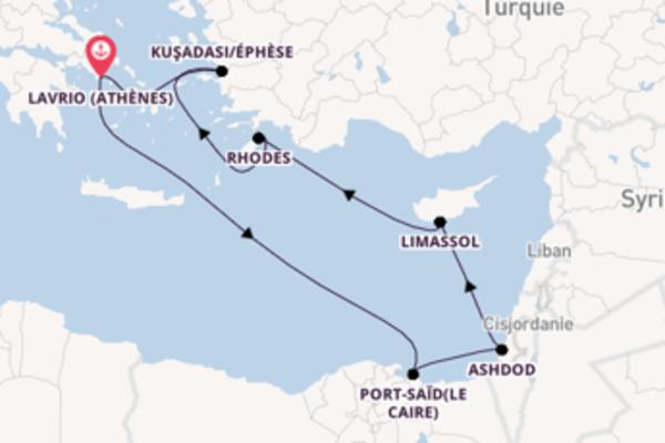 Port-Saïd(Le Caire) et une étonnante croisière depuis Lavrio (Athènes)