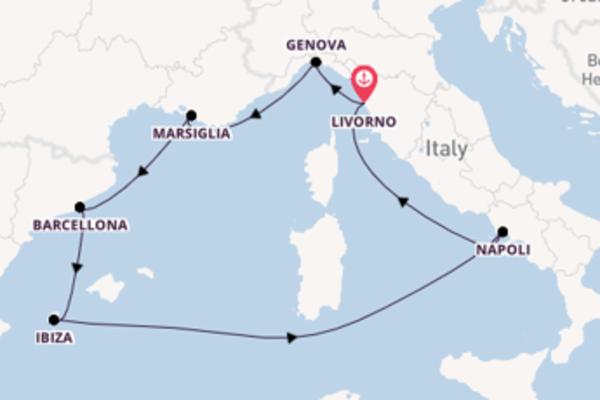 A bordo di MSC Seaside fino a Livorno