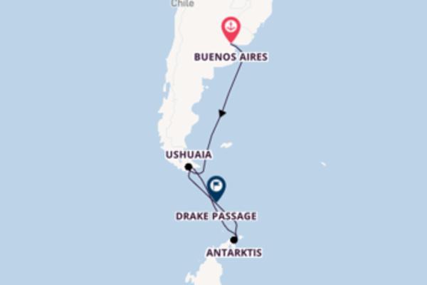 11-tägige Kreuzfahrt bis Ushuaia, Argentinien