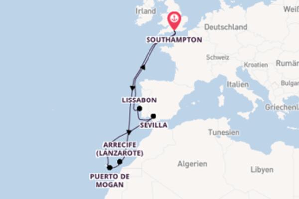 Southampton und Funchal erkunden