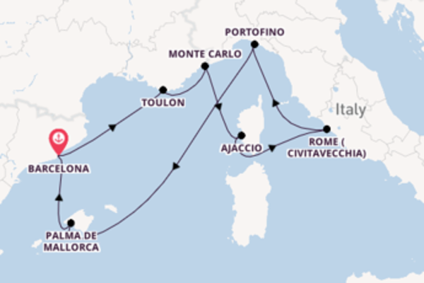 Spectacular trip from Barcelona with Royal Caribbean