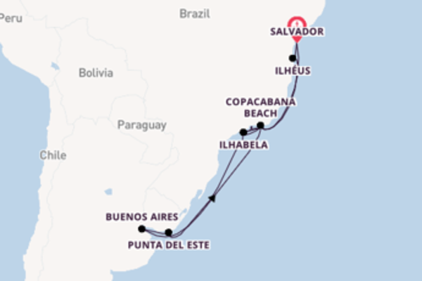 Fiabesca crociera di 16 giorni verso Rio de Janeiro a bordo di MSC Preziosa