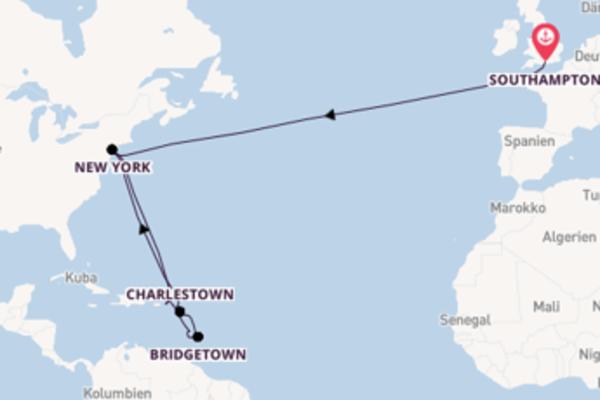 Einmalige Reise über Bridgetown in 20 Tagen