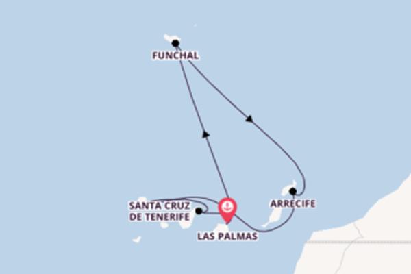 Santa Cruz de La Palma verkennen met de AIDAmar