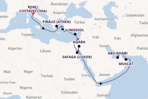 Genießen Sie Suezkanal-Passage ab Civitavecchia