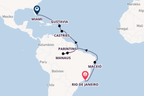 22-tägige Kreuzfahrt ab Rio de Janeiro