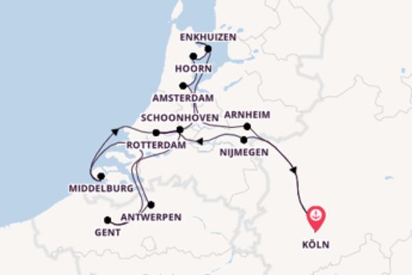 In 11 Tagen nach Köln über Rotterdam