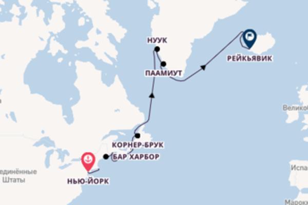 Нью-Йорк - Рейкьявик на Seven Seas Navigator