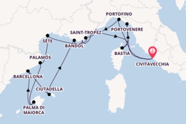 Lasciati affascinare da Saint-Tropez arrivando a Civitavecchia