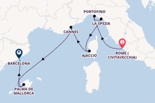 8 day cruise from Rome (Civitavecchia)