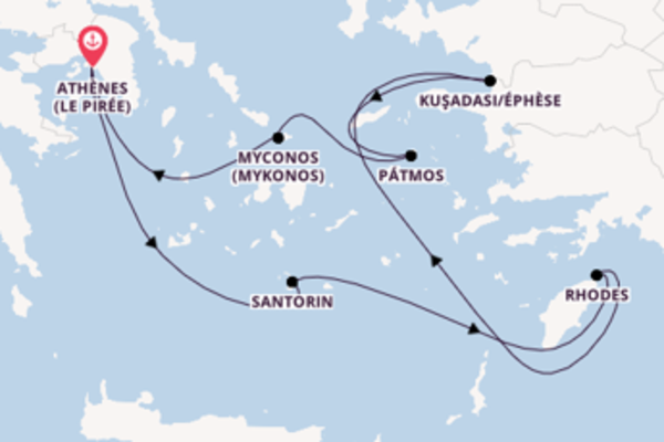 Croisière de 8 jours vers Athènes (Le Pirée) avec Azamara Club Cruises