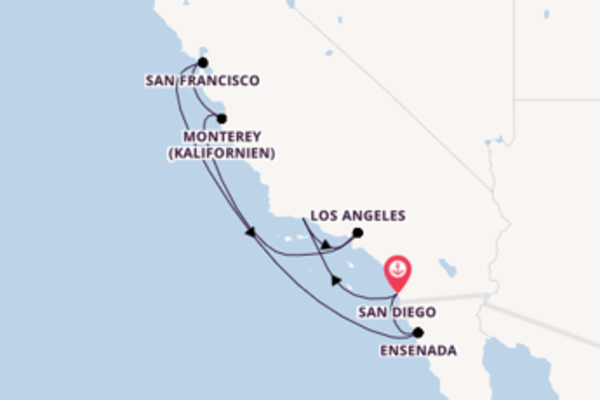Spannende Kreuzfahrt über Los Angeles ab San Diego