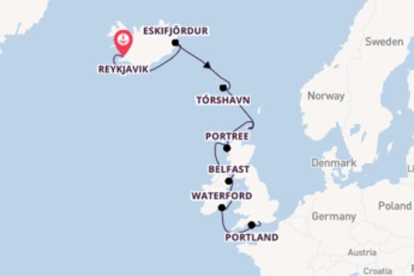 Sailing from Reykjavik via Kirkwall