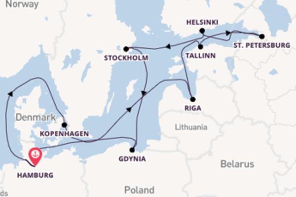 Ga mee op het MS Europa naar Kiel, Duitsland