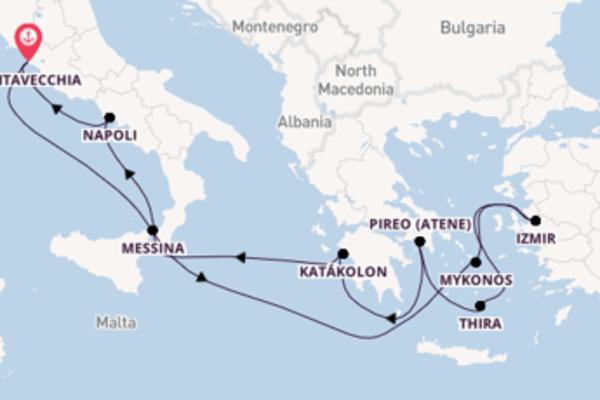 Salpando i mari da Civitavecchia