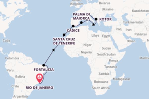 Da Rio de Janeiro a Venezia in 21 giorni