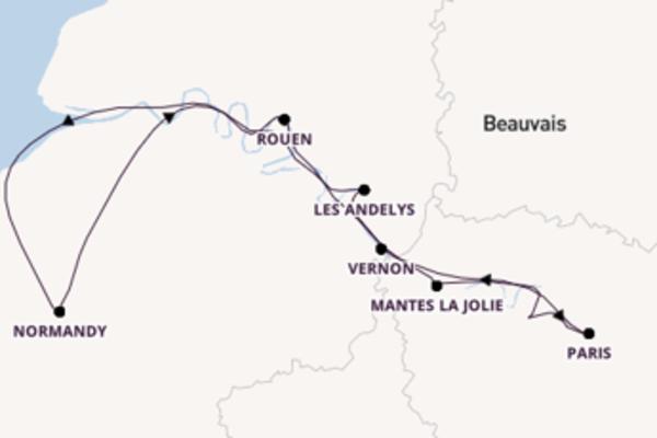 Sailing from Le Pecq via Vernon