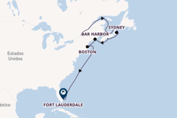 A bordo do Zaandam em uma viagem de 12 dias