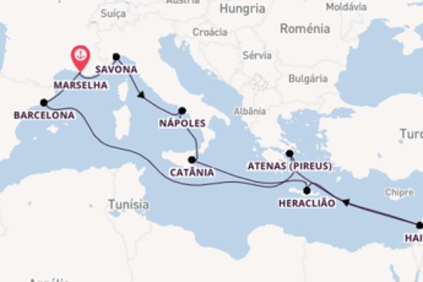 Desfrute 15 dias a bordo do Costa Diadema