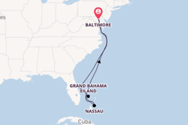 Cruise in 9 dagen naar Baltimore met Royal Caribbean