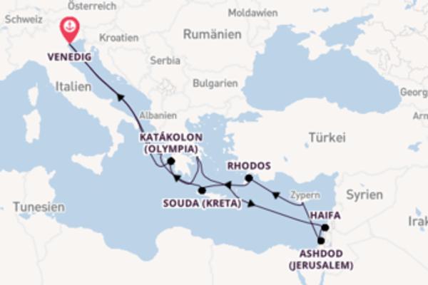 Von Venedig über Souda (Kreta) in 13 Tagen
