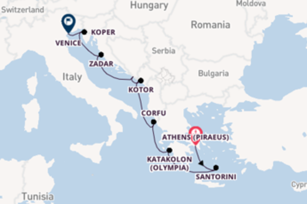 10 day cruise with the Viking Sea to Venice
