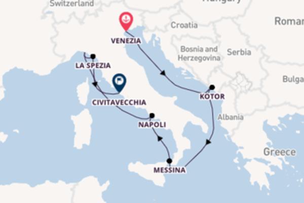 Intrigante crociera di 10 giorni verso Civitavecchia
