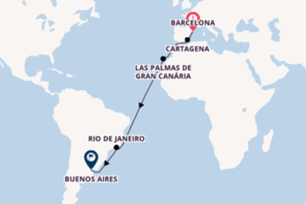 Admirável cruzeiro até Buenos Aires
