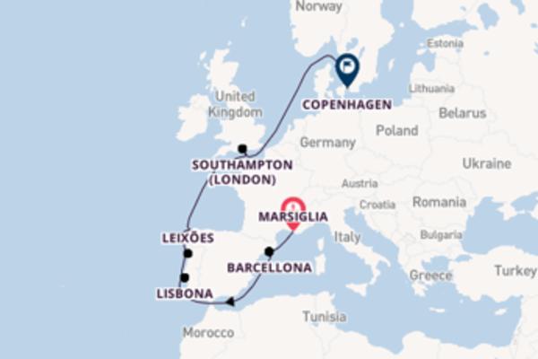 Crociera da Marsiglia verso Southampton (London)