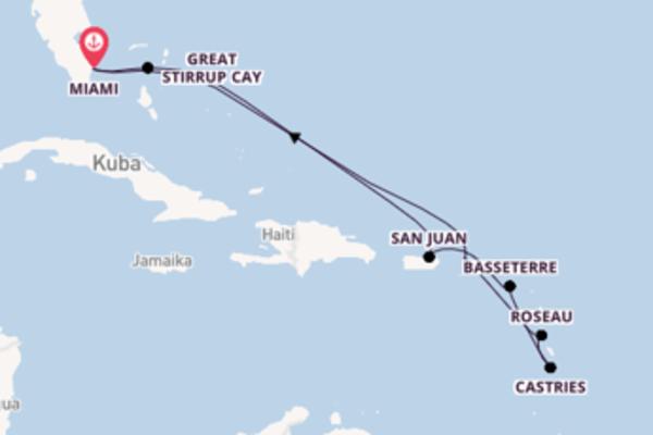 11-tägige Kreuzfahrt ab Miami