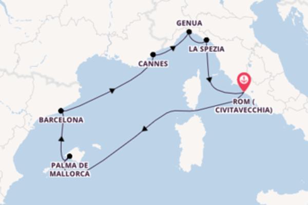 Kreuzfahrt mit der MSC Meraviglia nach Rom (Civitavecchia)
