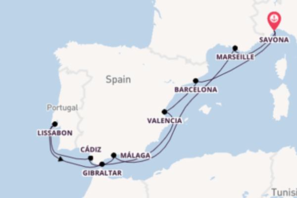 Cruise met Costa Cruises naar Barcelona