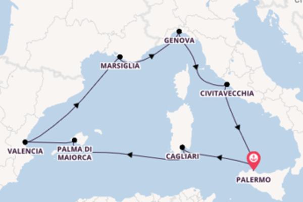 Estasiante crociera di 8 giorni passando per Valencia