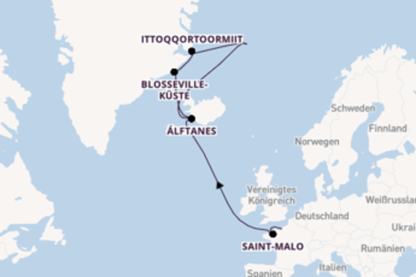 15 Tage Grönland Kreuzfahrt