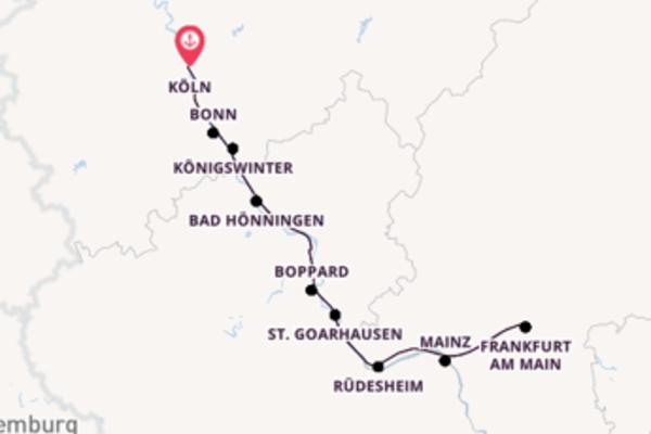 Außergewöhnliche Reise ab Köln, Deutschland