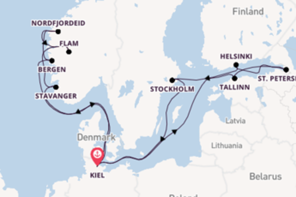 Expedition with MSC Cruises from Kiel