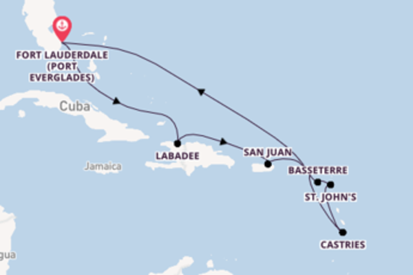 11 day cruise with the Vision of the Seas to Fort Lauderdale (Port Everglades)