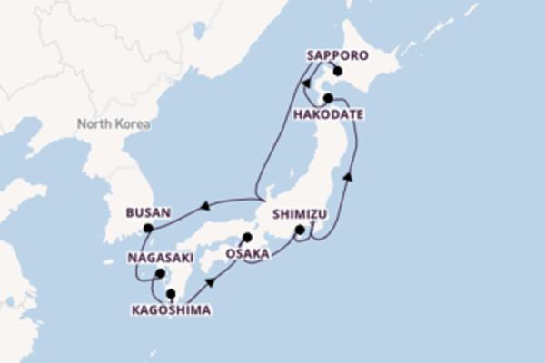Crociera da Tokyo verso Busan