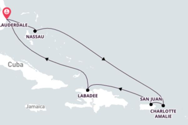 Inigualável cruzeiro de 8 dias com a Royal Caribbean