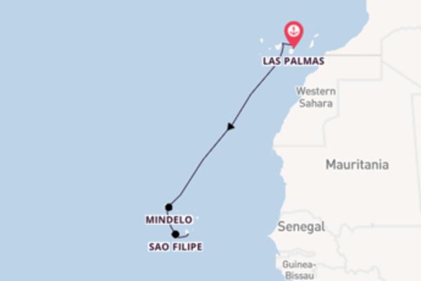Cruising from Las Palmas, Gran Canaria to Praia