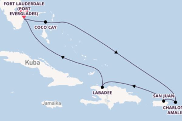 8 Tage Karibik Kreuzfahrt