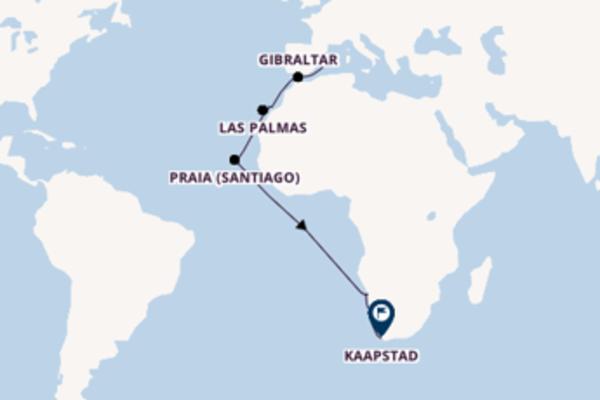 Cruise met AIDA naar Praia